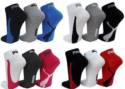 PUMA Lifestyle Quarter Baumwoll 1/4 Schaft Sneaker Socken Kurzschaft