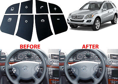 Replacement Steering Wheel Button Stickers For 2005-2012 Mercedes SUV New USA - Cheap Custom Stickers
