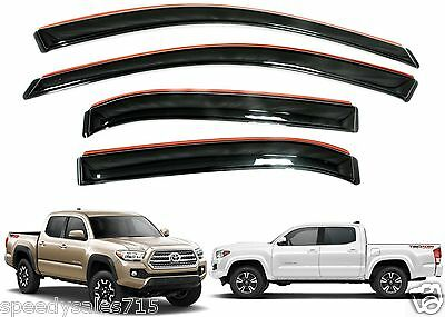 AVS 194768 In-Channel Vent Visors For 2016-2018 Toyota Tacoma Crew Cab New USA