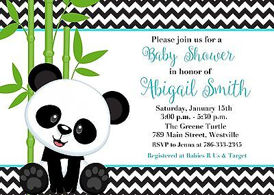 Panda Baby Shower, Boy, Boy Panda, Panda Bear, Baby Shower, Invitation