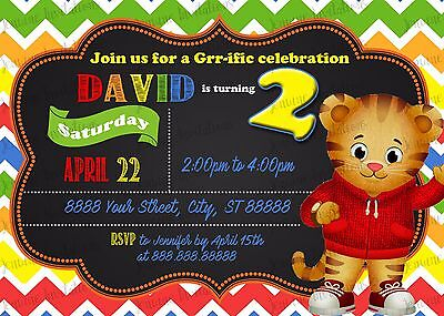 Daniel the tiger Birthday Party Invitations 10 5x7 Printed