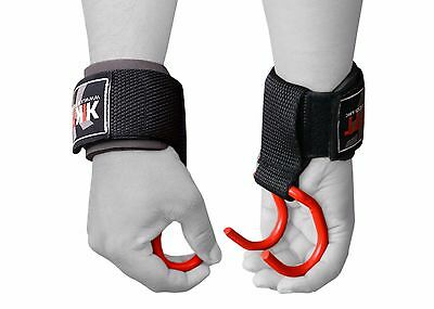 KIKFIT Padded Weight Lifting Training Gym Straps Hand Bar Wrist Support Gloves
