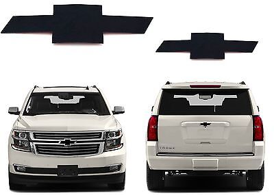 CNC Cut Gloss Black Front  Rear Bowtie Emblems For 2015 2018 Tahoe New USA