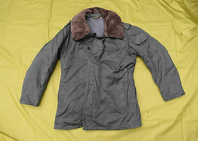 RARE POLISH Airforce Cold Weather Parka with Heavy Wool Liner + fur collar