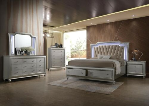 Acme Furniture Kaitlyn Queen 6 Piece Lighted Bedroom Set