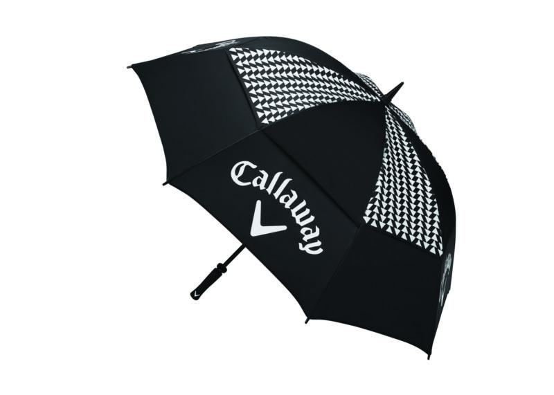 "New Callaway Golf-  Ladies 60"" UpTown Double Canopy Umbrella Black/White"