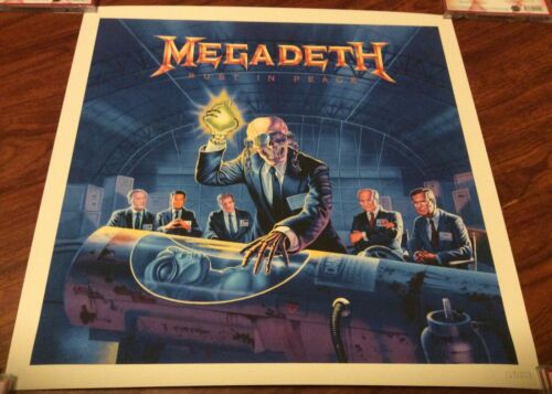 MEGADETH RUST IN PEACE 30TH ANNIVERSARY LITHOGRAPH POSTER 124/250 EXCLUSIVE