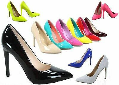 NEW Womens 19 color Pointy Toe Stiletto High Heel Dress Pump Shoes Size 5.5 - 11 Dress High Heel Shoes