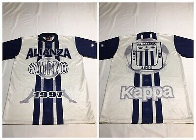 VTG 90s 1997 Kappa Club Alianza Lima Campeon Champion Soccer Jersey Mens Large image