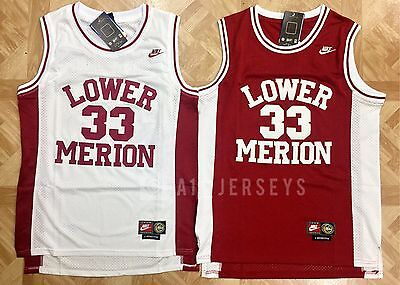 Kobe Bryant Lower Merion High School Basketball Jersey Throwback Mens #33 Red