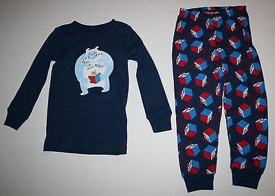Neu Gymboree Jungen Holiday Yeti Monster Blau Schlafanzüge Gymmies Pyjama 3 4 5 ()