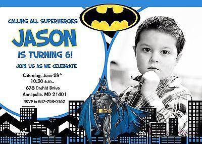 Batman, Superhero, Birthday Party, Birthday, Invitation (Superhero Baby Shower Invitations)