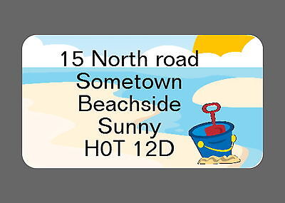 40 PERSONALISED GLOSS CHANGE OF ADDRESS LABELS, BEACH SCENE](change of address labels)