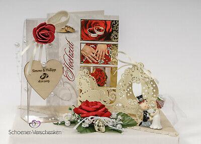 Geldgeschenk zur Hochzeit mit Gravur