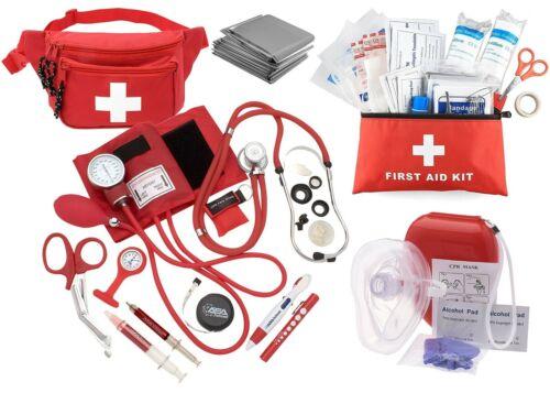 Nurse EMT Paramedic Essential All in one Bundle First Aid kit, Nurse Tools+CPR