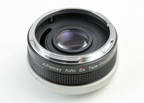 U199579 JC Penney 2X Auto-Aperture Teleconverter for Canon FD Lenses Genuine