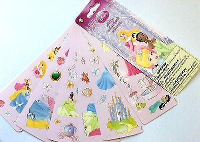 6 Sheets Disney Princess  Stickers Party Favors Belle Ariel Cinderella  Jasmine