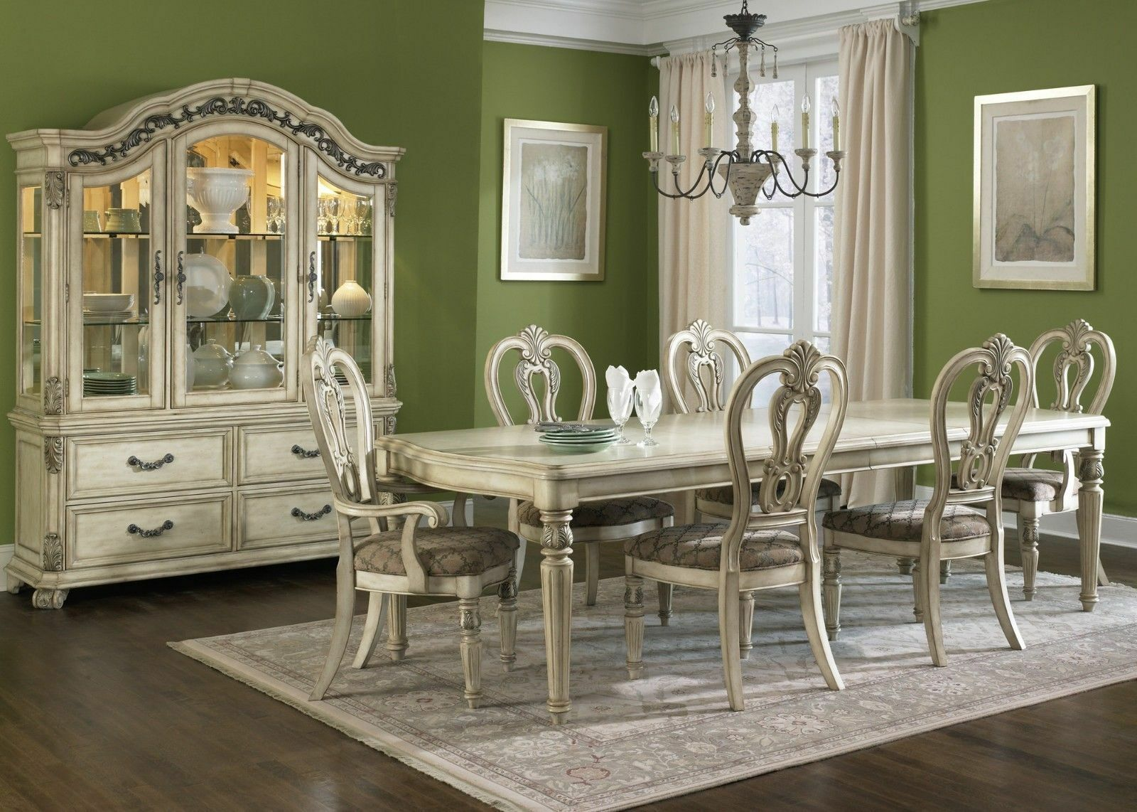 Dining Room Set With China Cabinet Antique China Cabinet Ebay