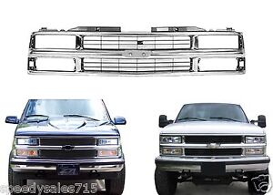 Replacement Chrome Grill For 1994-1999 Chevy C/K 1500 2500 3500 New Free Ship