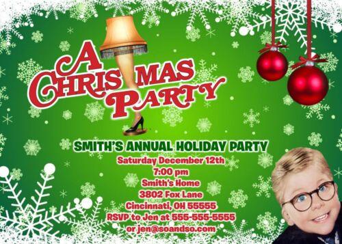 A Christmas Story Holiday Christmas Party Invitation