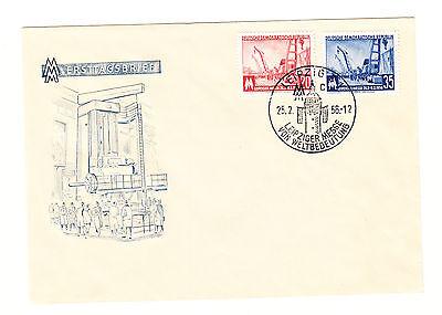 DDR FDC Ersttagsbrief 1956 Leipziger Messe Mi.Nr.518+19