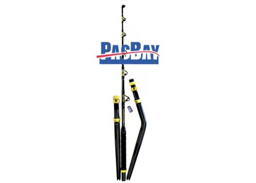 XCALIBER MARINE STRAIGHT AND BENT BUTT SALTWATER TROLLING ROD PAC BAY 80-130LB