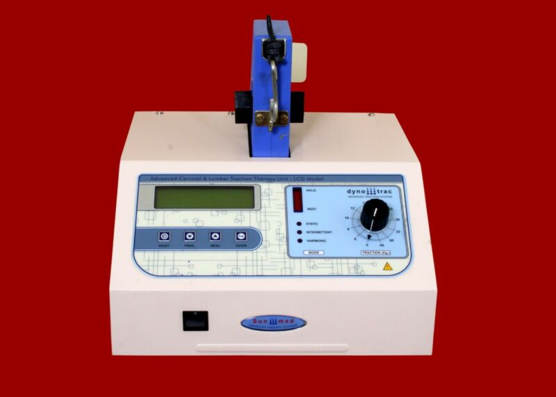 New Lumbar & Cervical Traction Machine Therapy LCD Display Dynotrac Unit