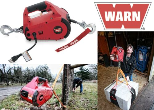WARN 885000 PullzAll Corded 120V AC Portable Electric Winch with Steel Cable New