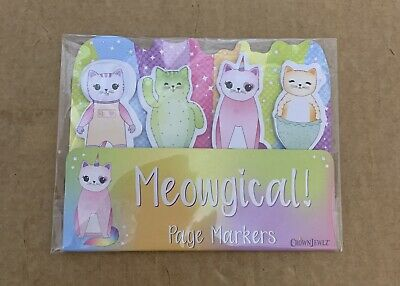 Page Markers Cats 100 Sticky Tabs Meowgical 4 Designs 25 Tabs Each Homeschooling