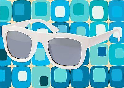 A535✪ Hippie Wayfarer Sonnenbrille 60er 70er Jahre rockbilly Hornbrille weiß