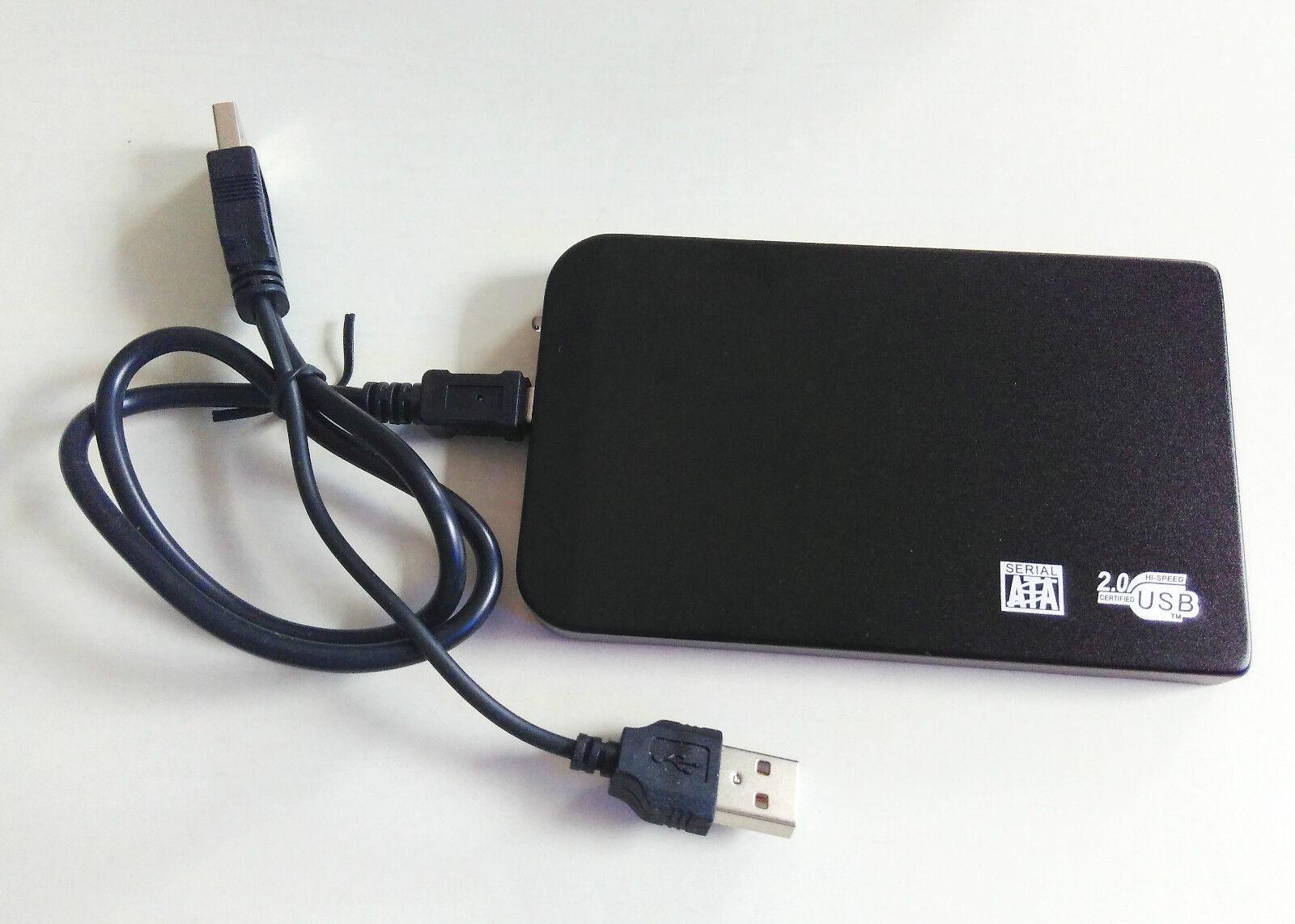 """black New 60 GB External Portable 2.5"""" USB 2.0 Hard Drive HD"""