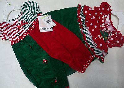 NEW BONNIE BABY CHRISTMAS ONE PIECE OUTFIT CHRISTMAS TREE or CANDY CANES SIZES - Bonnie Baby Christmas Outfits