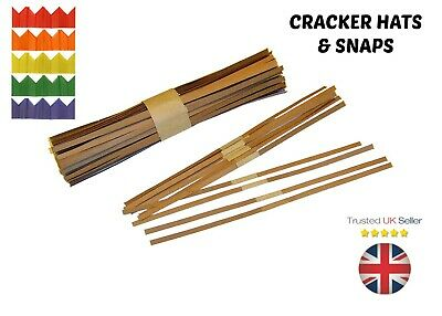 Christmas Cracker SNAPS & HATS Pulls Bangs Make / Build Your Own Xmas Party Snap ()