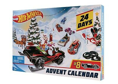 Hot Wheels FYN46 2019 Advent Calendar Vehicles BRAND NEW #sfeb20-82