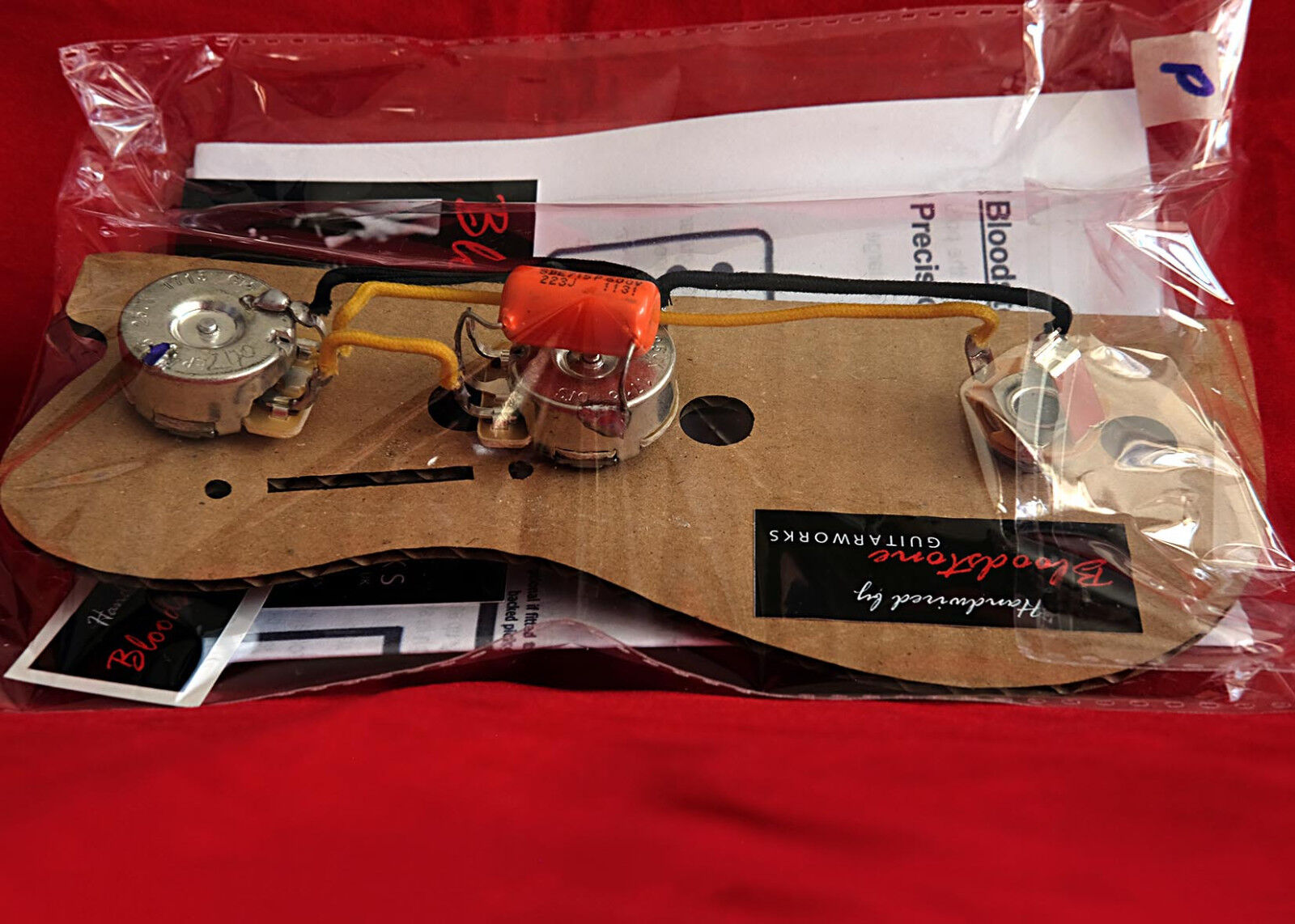 Ready Built Fender Usa Precision P Bass Wiring Upgrade Loom Harness Kit 2 Of 7