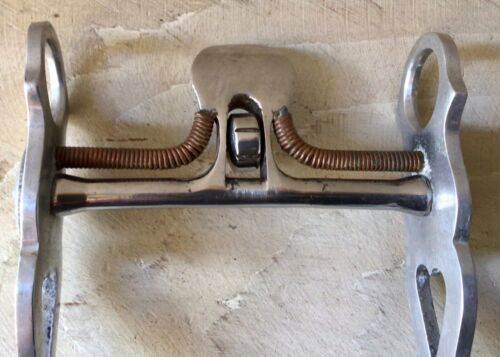 "CROCKETT Spade Bit 5"" Stainless Mouth, Aluminum Engraved Shanks, Excellent"