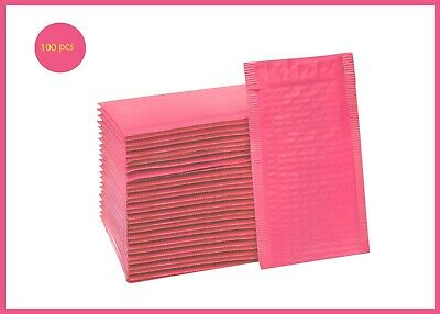 100 Pieces 000 Pink Padded Envelope 4x8 Bubble Mailers Shipping Bags