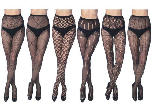 Women Fishnet Stocking Tights Pantyhose Regular & Plus Sizes 1020 (Pack of 6)