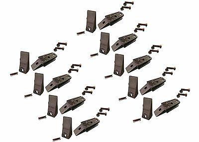 9 Bobcat Style Mini Ex Skid Bolt On Bucket Shanks Teeth Pins Bolts 7107324