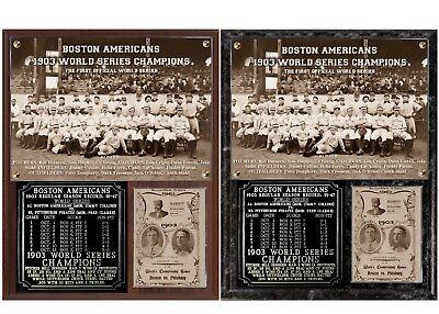 - Boston Red Sox 1903 World Series Champions Photo Plaque