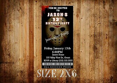 Friday the 13th Birthday Invitations, Jason Voorhees (Jason Voorhees Birthday)