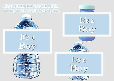 It's a Boy Baby Shower Labels for Water Bottles, Bubbles, Favor Bags - SALE
