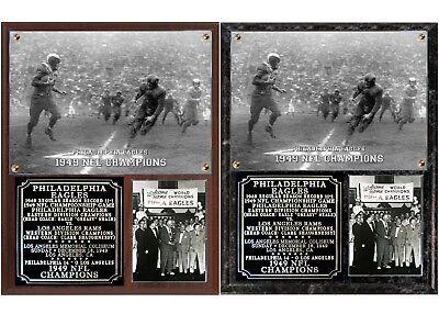 Philadelphia Eagles 1949 NFL Champions Photo Plaque