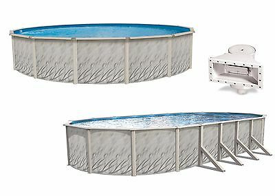 - MEADOWS Above Ground Round & Oval Steel Wall Swimming Pool & Liner Kit