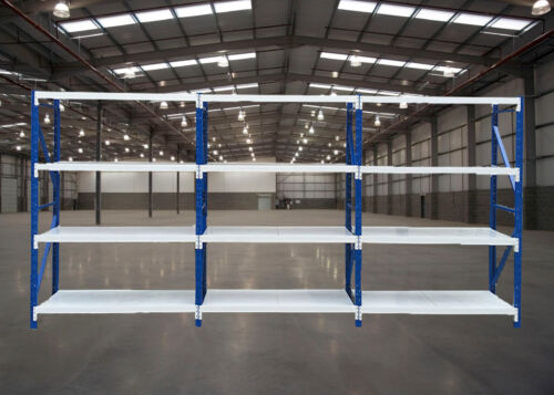 2Mx6Mx0.6M  Metal Warehouse Racking Garage Shelving 2700kg Storage Shelves