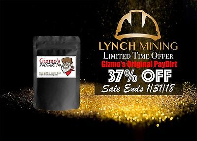 Limited Time Offer! Gizmo's Original PayDirt - Gold & Gems - Lynch Mining, LLC