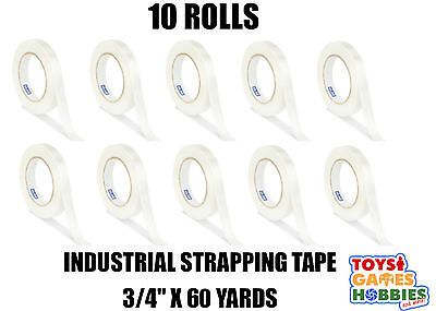 10 Rolls Uline Industrial Filament Strapping Tape 3/4