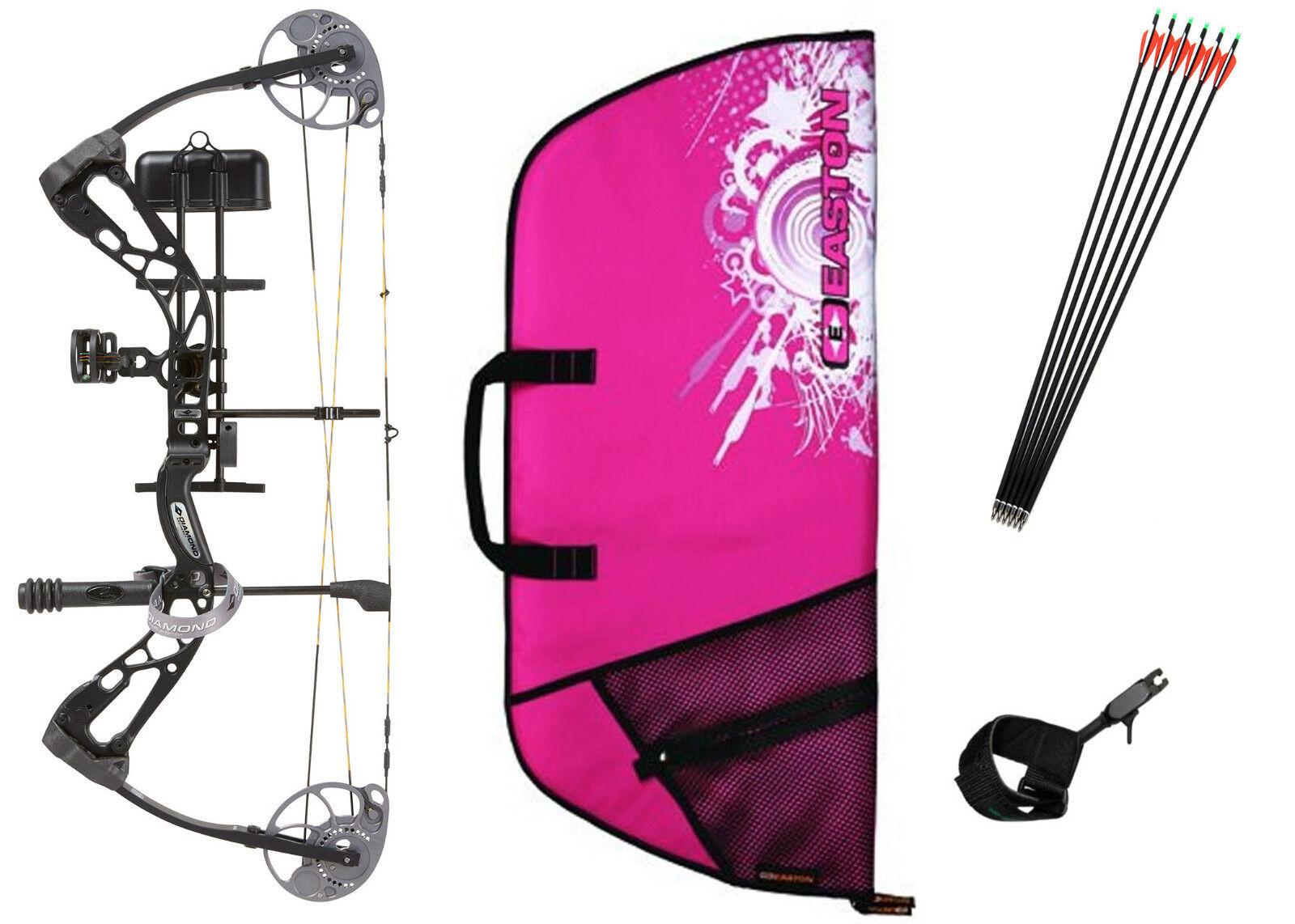Diamond Bowtech Infinite Edge SB-1 BLACK & PINK Bow Package