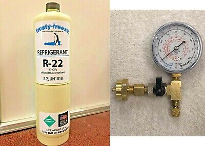 R22 R-22 Refrigerant 22 Air Conditioning Refrigeration 20 Oz Gauge Kit