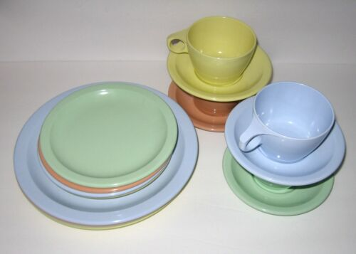 Vintage Texas Ware Pastel Dishes